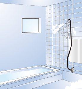 シャワールーム イラスト